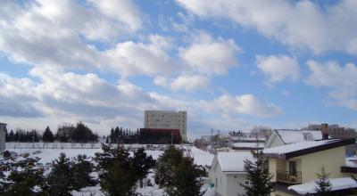 02/02:オホブラ百貨店の事務所から見た北見工大方面