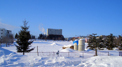 2/2:オホブラ百貨店の事務所駐車場から見た景色
