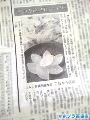 7/1:北海道新聞・経済欄に「永田製飴」の「ハッカ飴」が載りました。