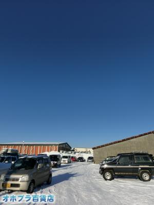 2/4:オホブラ百貨店・今朝の北見市の玉ねぎ倉庫