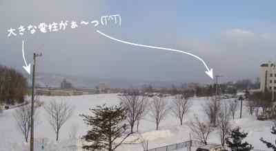 2/27:小雪まじりの工事風景