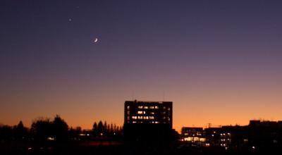 12/01:北見工大近辺の夕景
