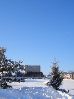 01/14:オホブラ百貨店の事務所から見た北見工大方面の景色
