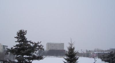02/03:オホブラ百貨店の事務所から見た北見工大