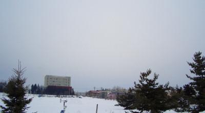 02/20:オホブラ百貨店の事務所から見た北見工大