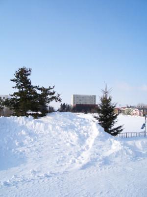 02/23:オホブラ百貨店からみた北見工大方面