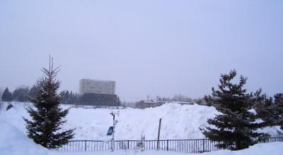 03/02:オホブラ百貨店の事務所駐車場より北見工大方面をみた景色