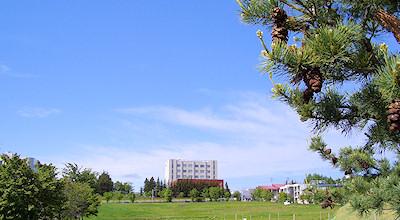 06/01:オホブラ百貨店の事務所の駐車場から見た北見工大方面