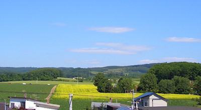 06/25:オホブラ百貨店の事務所の屋上から見た景色