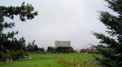 08/17:オホブラ百貨店の事務所駐車場から見た景色