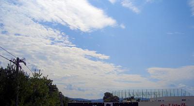 09/19:北見市立光西中学校前の歩道橋から