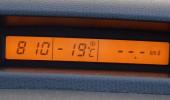 1/15の車載気温計