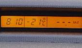 2/4の車載気温計