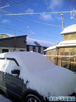 1/13:オホブラ百貨店・車上の雪
