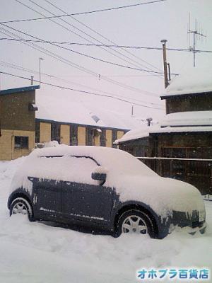 1/25:オホブラ百貨店・駐車場の雪