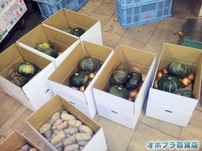 10/24:オホブラ百貨店・じゃがいもたまねぎかぼちゃ発送風景