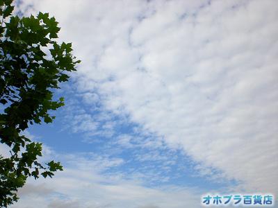 9/1:オホブラ百貨店・今朝の北見市の空