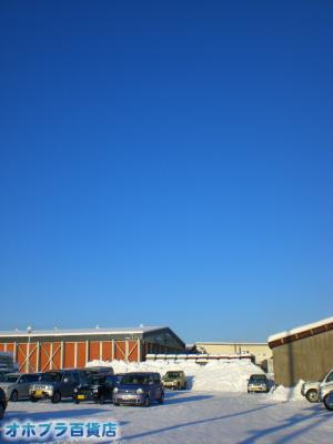 12/21:オホブラ百貨店・今朝の北見市のたまねぎ倉庫