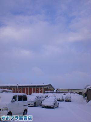 12/26:オホブラ百貨店・今朝の北見市のたまねぎ倉庫
