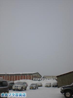 2/13:オホブラ百貨店・今朝の北見市のたまねぎ倉庫