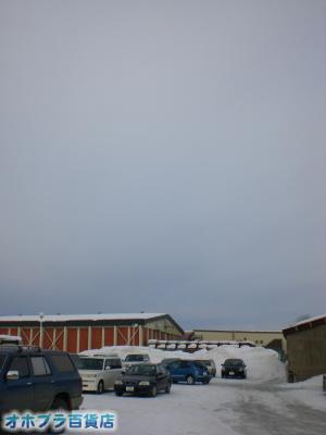 2/27:オホブラ百貨店・今朝の北見市のたまねぎ倉庫