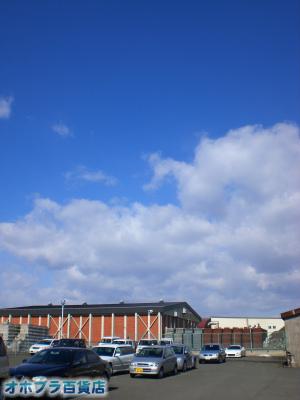 4/11:オホブラ百貨店・今朝の北見市のたまねぎ倉庫