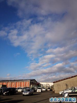 12/12:オホブラ百貨店・今朝の北見市のたまねぎ倉庫