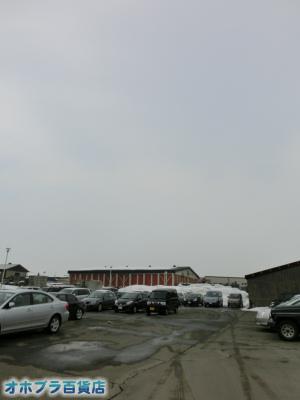 3/25:オホブラ百貨店・今朝の北見市のたまねぎ倉庫