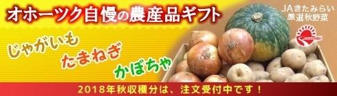 オホブラ百貨店:オホーツク秋の味覚セット(じゃがいも・たまねぎ・かぼちゃ)