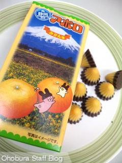 meiji「アポロチョコレート・みかん味」静岡限定
