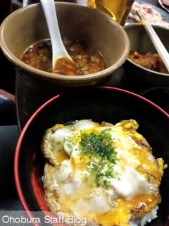 焼肉店「板門店」の目丼&ガラスープ